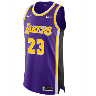 authentic lebron james lakers jersey