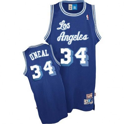 blue los angeles lakers jersey 34