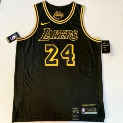 jersey lakers authentic black