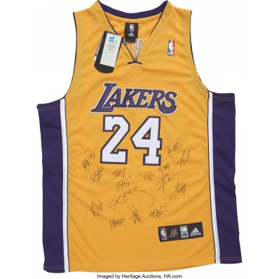 jersey signed nba lakers