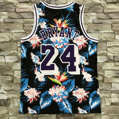 kobe bryant 24 los angeles lakers floral jersey special limited edit