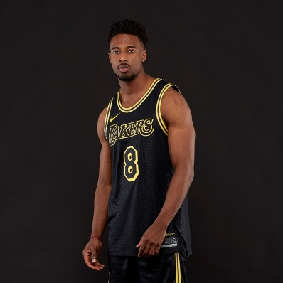 lakers authentic black jersey
