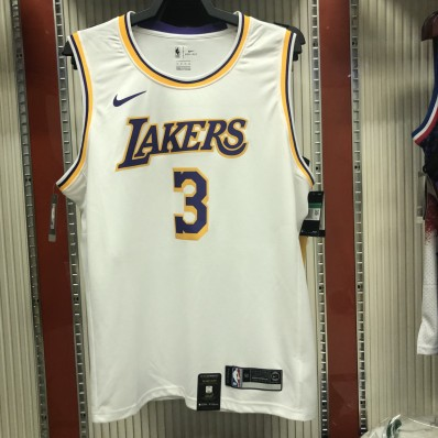 lakers jersey davis 3 for adult white only by nike
