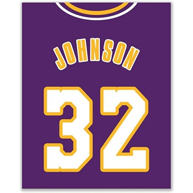 lakers vintage jersey poster