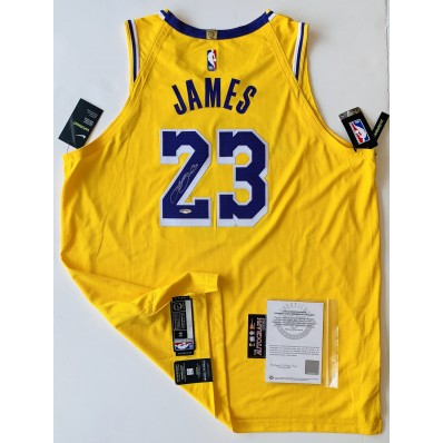 lebron james autographed jersey lakers