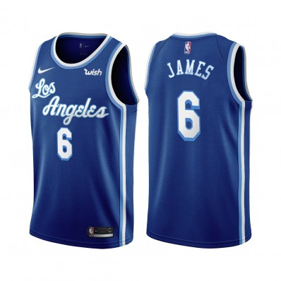 lebron james jersey blue and white lakers