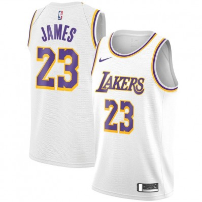 lebron james lakers jersey white adult