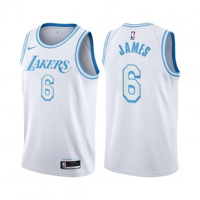 lebron james lakers jersey white city edition