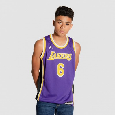 lebron james los angeles lakers jersey purple - statement edition