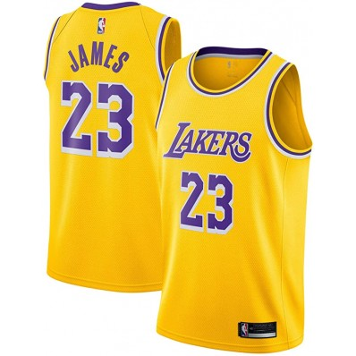 lebron james yellow lakers youth large jersey