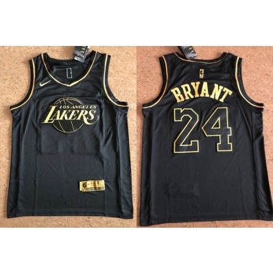 los angeles lakers black and gold jersey
