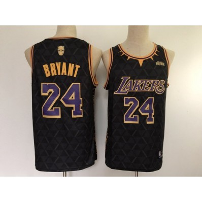 los angeles lakers black panther jersey