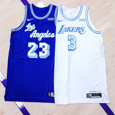 los angeles lakers blue jersey 2020
