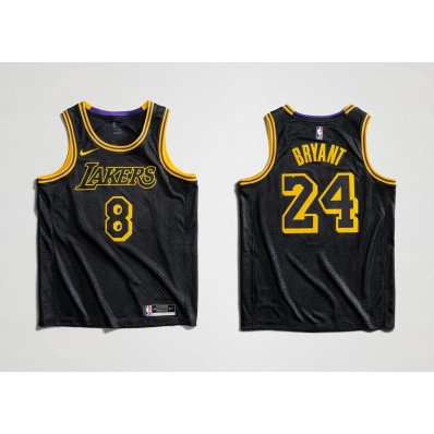 los angeles lakers city edition jersey black