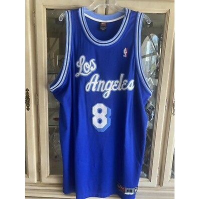 los angeles lakers jersey # 8 blue and white