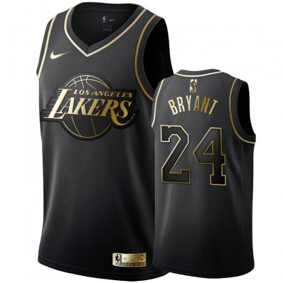los angeles lakers jersey black and gold bryant