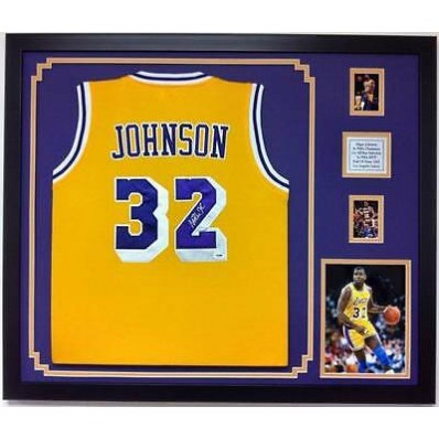 los angeles lakers jersey framed