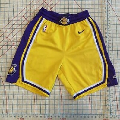 los angeles lakers jersey shorts men's x-large yellow