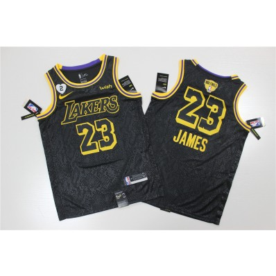 los angeles lakers lebron james #23 nba 2020 new arrival black jersey