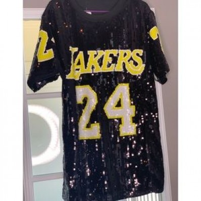 los angeles lakers sequins jersey