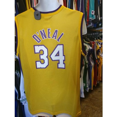 los angeles lakers shaquille vintage jersey 34