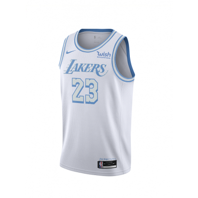 los angeles lakers white jersey for men