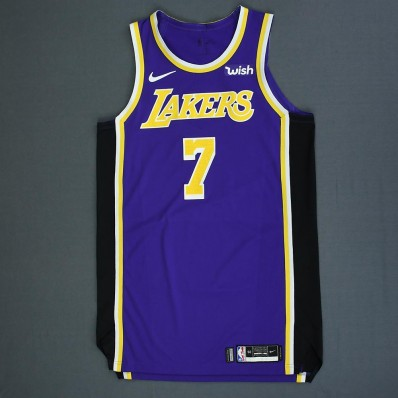 men's los angeles lakers #7 javale mcgee black city edition jersey