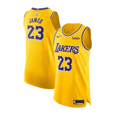 nike nba authentic jersey lebron james lakers icon edition