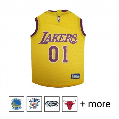 pets first los angeles lakers nba mesh jersey for dogs x-small