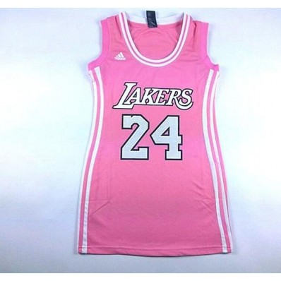 pink lakers jersey dresses for women nba