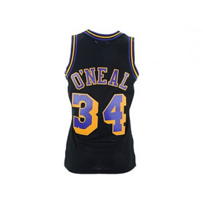 shaquille o'neal checker lakers jersey