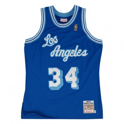 shaquille o'neal jersey lakers blue