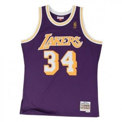shaquille o'neal jersey lakers purple