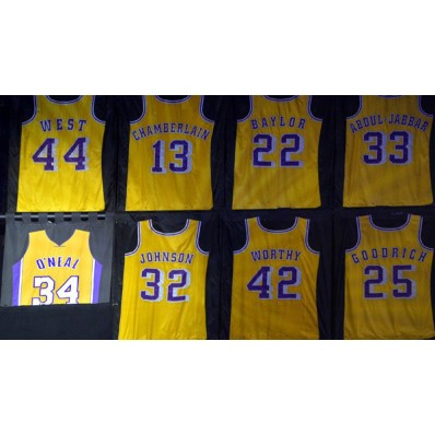 shaquille o'neal jersey retired lakers
