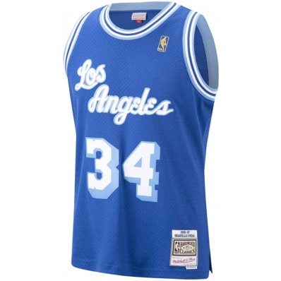 shaquille o'neal lakers jersey royal