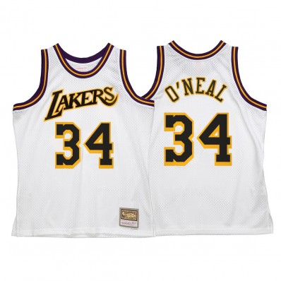 shaquille o'neal lakers jersey white
