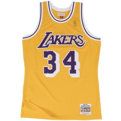 shaquille o'neal throwback lakers jersey