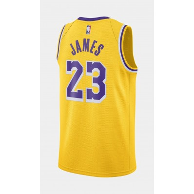 yellow los angels lakers jersey for men
