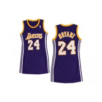 kobe bryant los angeles lakers split jersey dress stitched for women